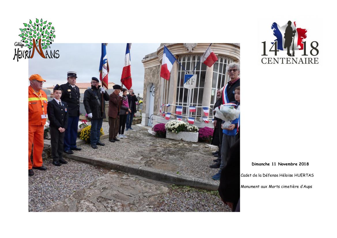 composition ceremonie 11 novembre 2