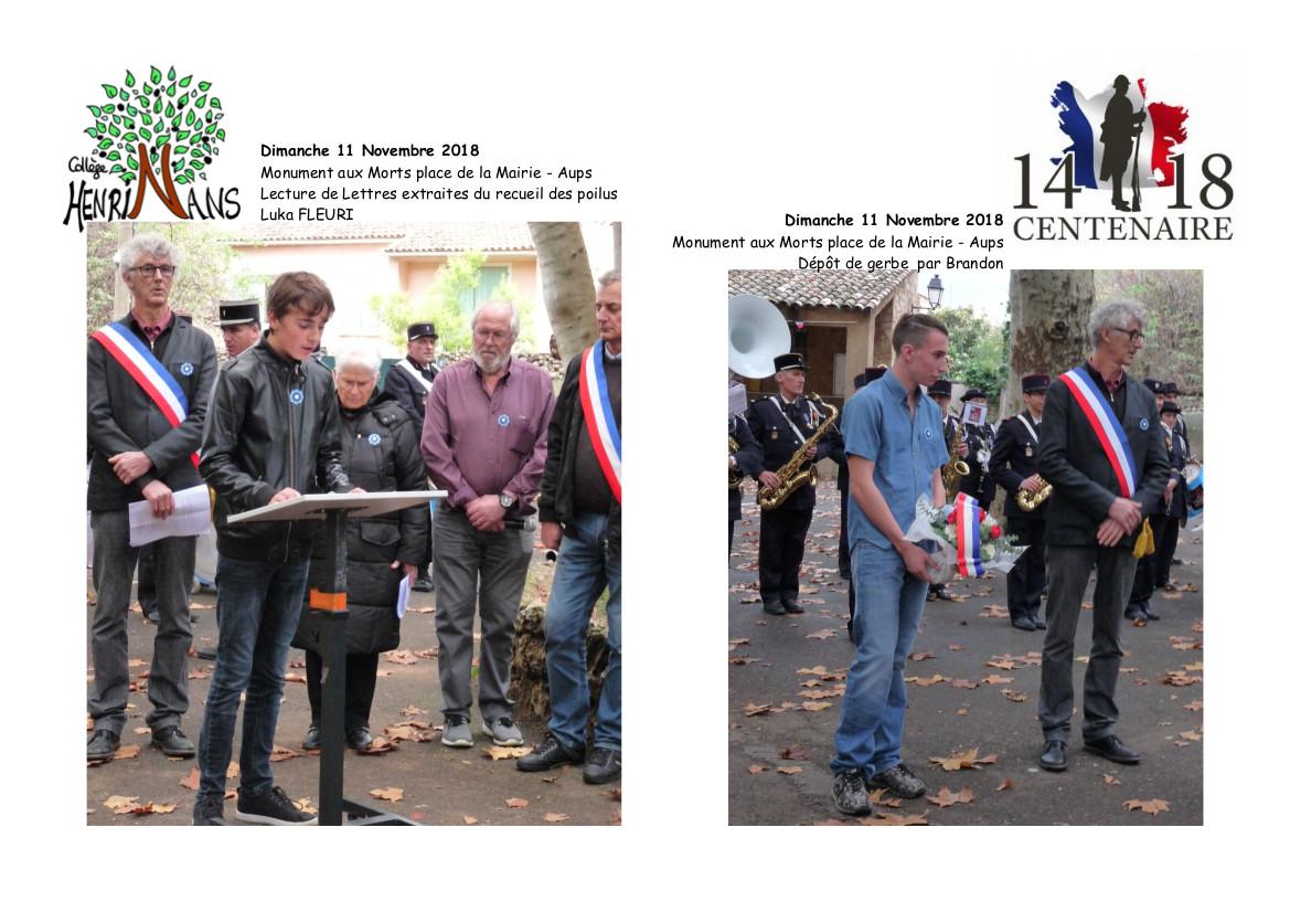 composition ceremonie 11 novembre 5